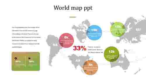 Simple best world map PPT